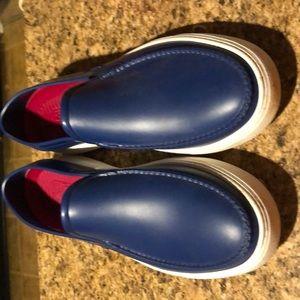 Blue Ferragamo 2 PVC Boat Shoe Nero